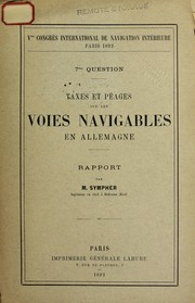 Cover of: [Reports] | International Congress of Navigation (5th 1892 Paris)