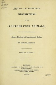 Cover of: General and particular descriptions of the vertebrated animals