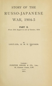 Cover of: Story of the Russo-Japanese War, 1904-05