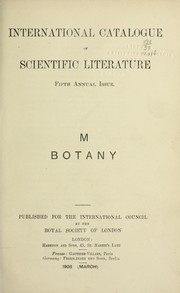 Cover of: International catalogue of scientific literature, 1901-1914 by Royal Society (Great Britain)