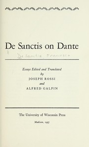 Cover of: De Sanctis on Dante