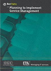 Cover of: Planning to Implement Service Management (IT Infrastructure Library) | Ogc