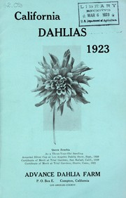 Cover of: California dahlias | Advance Dahlia Farm