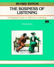 Cover of: The Business of Listening | Diana Bonet
