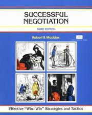 Cover of: Successful Negotiation