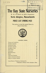Cover of: Price list spring 1923