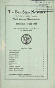 Cover of: Price list fall 1923