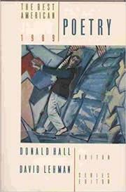 Cover of: The Best American Poetry 1989
