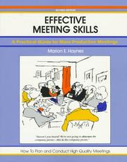 Cover of: Effective meeting skills