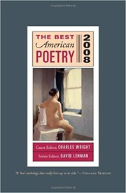 Cover of: The Best American Poetry 2008