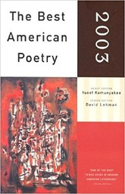 Cover of: The Best American Poetry 2003