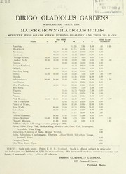 Cover of: Wholesale price list of Maine grown gladiolus bulbs