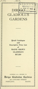 Cover of: Retail catalogue and descriptive price list of Maine grown gladiolus bulbs