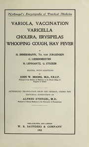 Cover of: Variola, vaccination, varicella, cholera, erysipelas, whooping cough, hay fever | H. Immermann