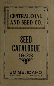 Cover of: Seed catalogue | Central Coal and Seed Co