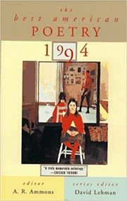 Cover of: The Best American Poetry 1994 |
