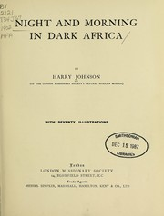 Cover of: Night and Morning in Dark Africa