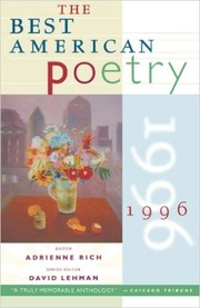 Cover of: The Best American Poetry 1996