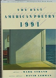 Cover of: The Best American Poetry 1991