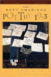 Cover of: The Best American Poetry 1993