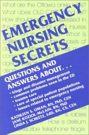 Cover of: Emergency nursing secrets