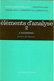 Cover of: Elements d'analyse (Cahiers scientifiques)