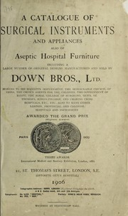 Cover of: A catalogue of surgical instruments and appliances | Down Bros. (Firm)