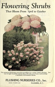 Cover of: Flowering shrubs | Flushing Nurseries, Inc