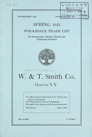 Cover of: Spring, 1923 | W. & T. Smith Company
