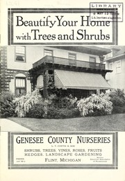 Cover of: Beautify your home with trees and shrubs | Genesee County Nurseries