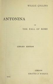 Cover of: Antonina | Wilkie Collins
