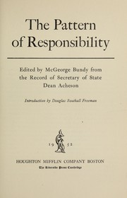 Cover of: The pattern of responsibility