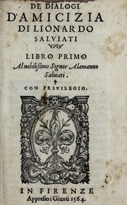 Cover of: De dialogi d'amicizia
