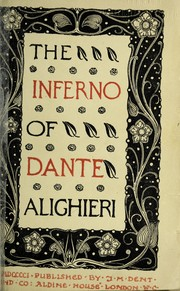 Cover of: The Inferno of Dante Alighieri. | Dante Alighieri