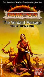 Cover of: The Verdant Passage (Dark Sun World)