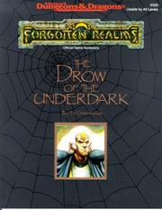 Cover of: The Drow of the Underdark (Advanced Dungeons and Dragons : Forgotten Realms Accessory)