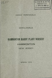 Cover of: Hardy perennials wholesale | Hammonton Hardy Plant Nursery