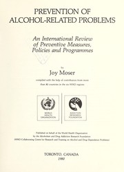 Cover of: Prevention of Alcohol-Related Problems | Joy Moser
