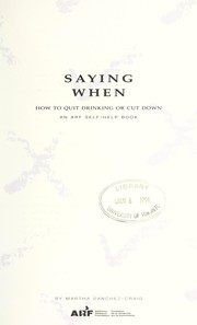 Cover of: Saying when