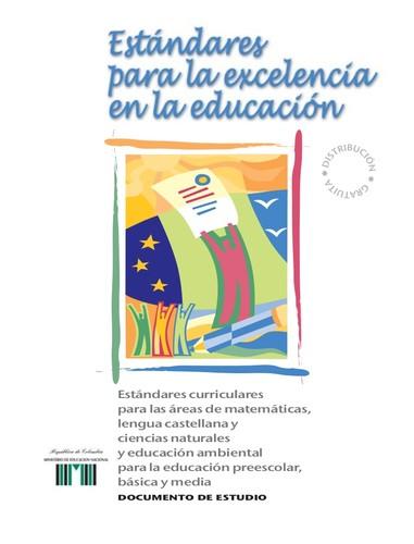 Estandares para la excelencia en la educacion estandares for Estandares para preescolar
