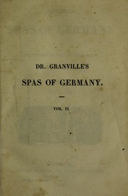Cover of: The spas of Germany | A. B. Granville