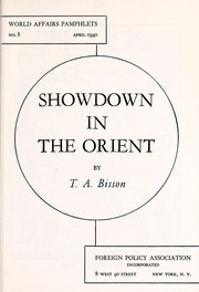 Cover of: Showdown in the Orient