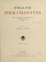 Cover of: English folk-chanteys