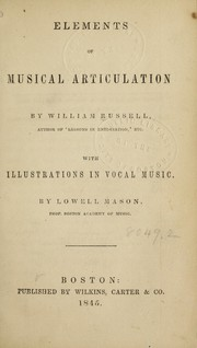 Cover of: Elements of musical enunciation