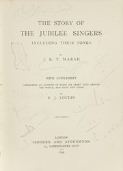 Cover of: The story of the Jubilee Singers
