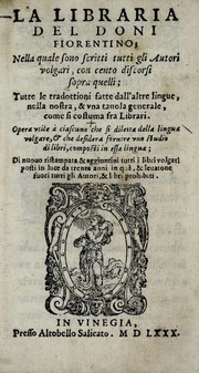 Cover of: La libraria del Doni fiorentino