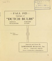 Cover of: Fall 1923