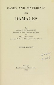 Cover of: Cases and materials on damages