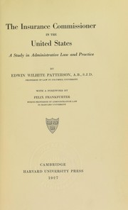 Cover of: The insurance commissioner in the United States