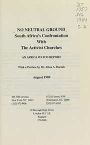 Cover of: No neutral ground |